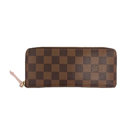 ba1f8718265e Auth Louis Vuitton Wallet Damier Portefeuille Clemence M60534 Rose Ballerine