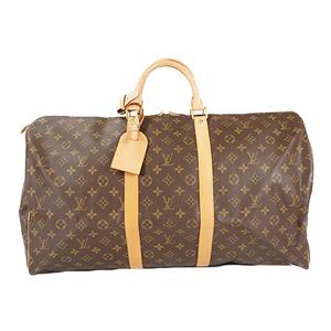 Auth Louis Vuitton Boston Bag Monogram Keepall55 M41424 Men,Women,Unisex