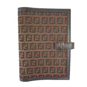 Auth Fendi Notebook cover Zucca Notebook cover Brown