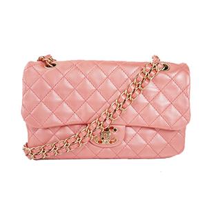 Auth Chanel Chain Shoulder bag Matelasse Leather Pink Bijou