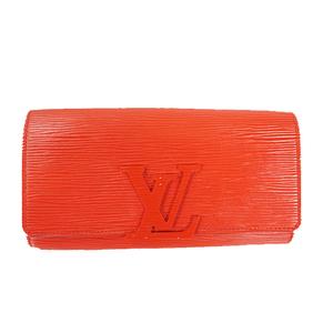 Auth Louis Vuitton Wallet (bi-fold) Epi Portefeuille Louise M60766 Coquelicots