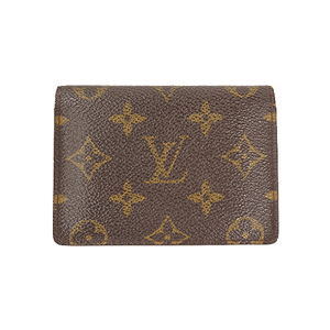 Auth Louis Vuitton  Pass holder Monogram Porto de Cartes Vertical M60533