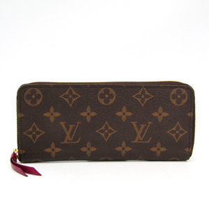 Louis Vuitton Monogram Clemence Wallet M60742 Women's Monogram Long Wallet (bi-fold) Fuchsia,Monogram