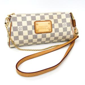 Louis Vuitton Damier Eva N55214 Women's Shoulder Bag Azur