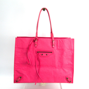 Balenciaga The Paper 236701 Women's Leather Tote Bag Pink