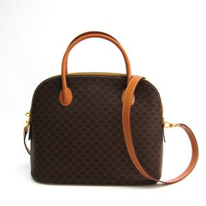 Celine Macadam Women's PVC,Leather Handbag,Shoulder Bag Brown