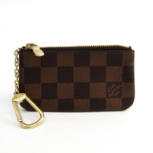 Louis Vuitton Damier Key Pouch N62658 Women's Damier Canvas Coin Purse/coin Case Ebene