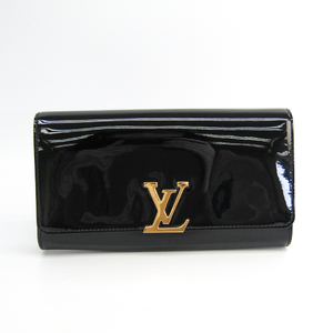 Louis Vuitton Louise-ew-patent-leather NM M51634 Women's Clutch Bag Black