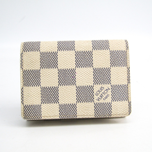 Louis Vuitton Damier Azur Damier Azur Business Card Case Damier Azur Enveloppe cartes de visite N61746