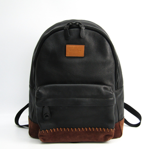 Coach Modern Varsity Campus Backpack Pebble Leather 71994 Men's Leather Backpack Black,Brown