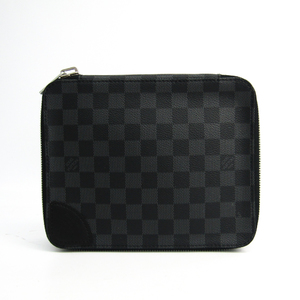 Louis Vuitton Damier Graphite Horizon Accessories Pouch N41521 Men's Pouch Damier Graphite