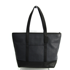 Coach West Tote F23248 Men's Leather Tote Bag Black,Gray