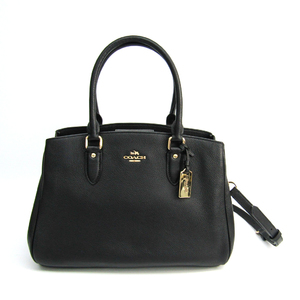 Coach Empire Carryall Polished Pebbled Leather 36373 Women's Leather Handbag Black