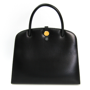Hermes Dalvy Women's Box Calf Leather Handbag Black