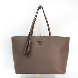 Tory Burch MCGRAW TOTE 42200 Women's Leather Tote Bag Grayish