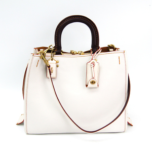 Coach Rogue In Glovetanned Pebble Leather 38124 Women's Leather Handbag White