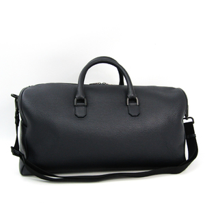 Furla UOMO Men's Leather Boston Bag Navy