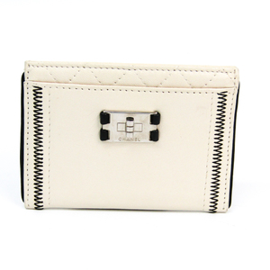 Chanel 2.55 Leather Card Case White