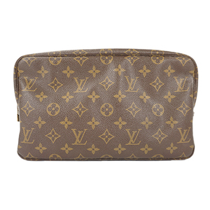 Auth Louis Vuitton Pouch Monogram Trousse Toilette 28 M47522