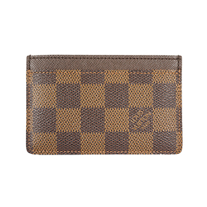 Auth Louis Vuitton Card Case Damier Canvas Porte Cartes  Simple N61722