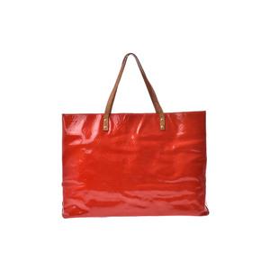 Louis Vuitton Monogram Vernis Reade GM M91084 Handbag Rouge