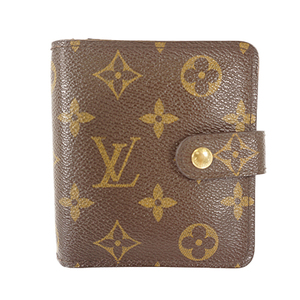 Auth Louis Vuitton Wallet Monogram Compact Zip M61667
