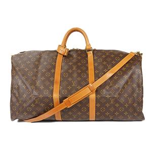 Auth Louis Vuitton Boston Bag Monogram Keepall Bandoliere 60 M41412