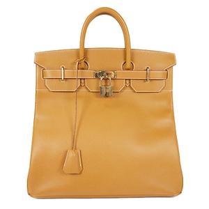 Auth Hermes Haute A Courroies 40 Handbag □A Gold
