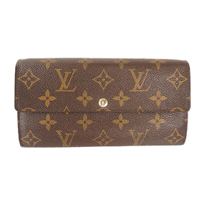 Auth Louis Vuitton Long Wallet Monogram Portefeuille Sarah M61734