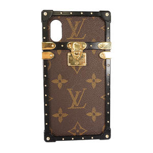 Auth Louis Vuitton Phone Case For IPhone X Monogram  Eye Trunk M62618