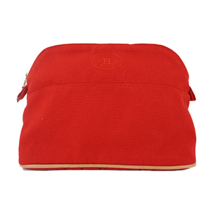 Auth Hermes Bolide Pouch 25 Pouch Red