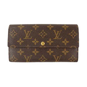 Auth Louis Vuitton Long Wallet Monogram Portefeuille Credit M61725