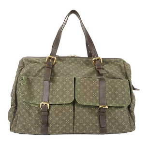Auth Louis Vuitton Boston Bag Monogram Mini Louise M42322 Khaki