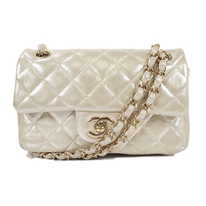 9ae996499c8c Auth Chanel Matelasse Chain Shoulder Bag Champagne Gold