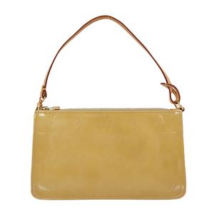 Auth Louis Vuitton Handbag Monogram Vernis Lexington M91010 Beige