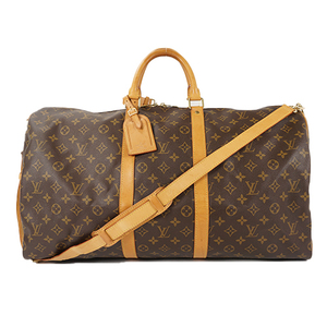 Auth Louis Vuitton Boston Bag Monogram Keepall Bandouliere 55 M41414