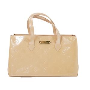 Auth Louis Vuitton Handbag Monogram Vernis Wilshire PM M91452