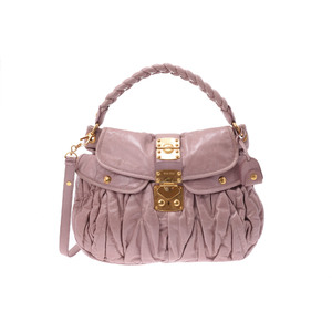 Miu Miu Matelasse 2 Way Semi Shoulder Bag Leather Bag