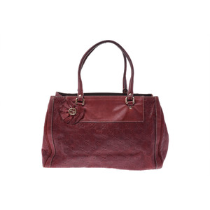 Gucci Guccissima Leather Handbag Red