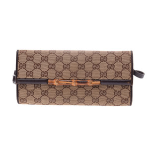Gucci Bamboo GG Canvas Shoulder Bag