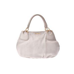 Miu Miu Leather Handbag White