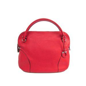 Salvatore Ferragamo Gancini 21 B936 Women's Handbag Red
