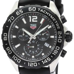 【TAG HEUER 】タグホイヤー フォーミュラ1 クロノグラフ ステンレススチール ラバー クォーツ メンズ 時計 CAZ1010