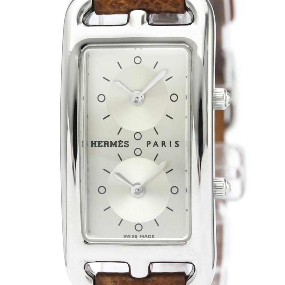 【HERMES】エルメス ケープコッド ドゥゾーン ステンレススチール レザー クォーツ レディース 時計 CC3.210