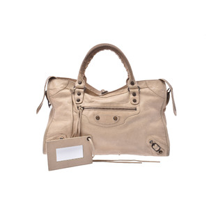 Balenciaga City Leather Bag Beige