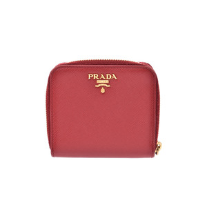 Prada Saffiano  Saffiano Leather Wallet Red