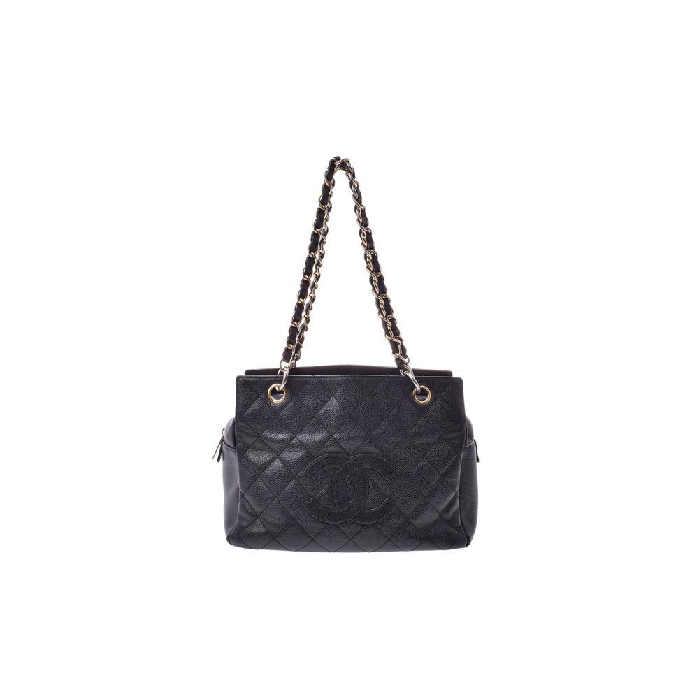 シャネル(Chanel) マトラッセ Chain Shoulder キャビアスキン ショルダーバッグ ブラック