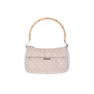 グッチ(Gucci) バンブー Semi shoulder bag GGキャンバス バッグ ベージュ