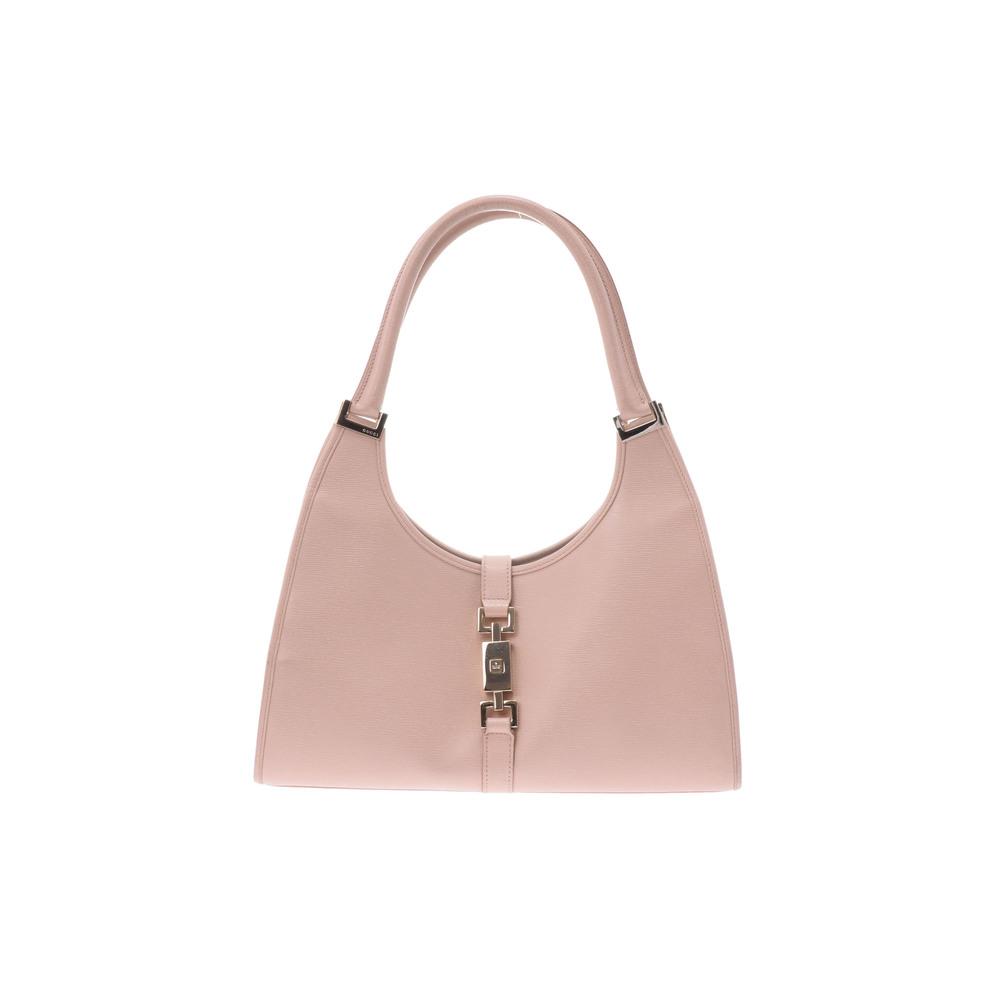 グッチ(Gucci) ジャッキー Semi shoulder bag レザー バッグ ピンク