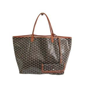 Goyard Saint Louis GM Canvas,Leather Bag Brown,Black